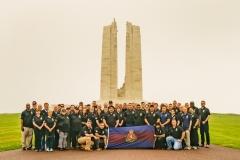 Regiment visits Vimy Memorial