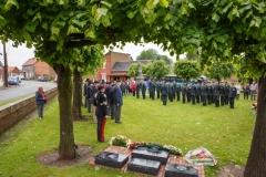Regiment on Parade, Somme Dedication, Courcelette France
