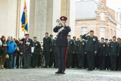 GGHG Trumpet Major, Sgt Jennings plays at Menin Gate Ceremony