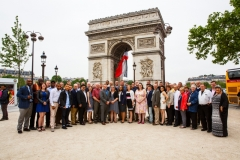 Regiment visits the Arc de Triumph, Paris, France