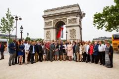 Regiment visits the Arc de Triumph, Paris, France