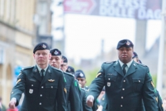 Regiment marching into Menin Gate