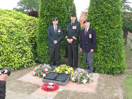 LCol (ret'd) John Fortheringham, Chair of the QOR (3rd Bn (Toronto)) Memorial Project, Maj. Scott Duncan and Col (Ret'd) DE Friesen, CD at the dedication.